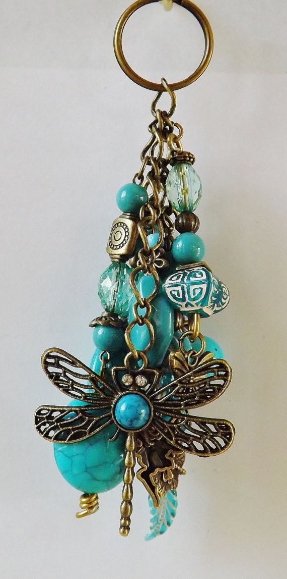 beaded keychains dragonfly