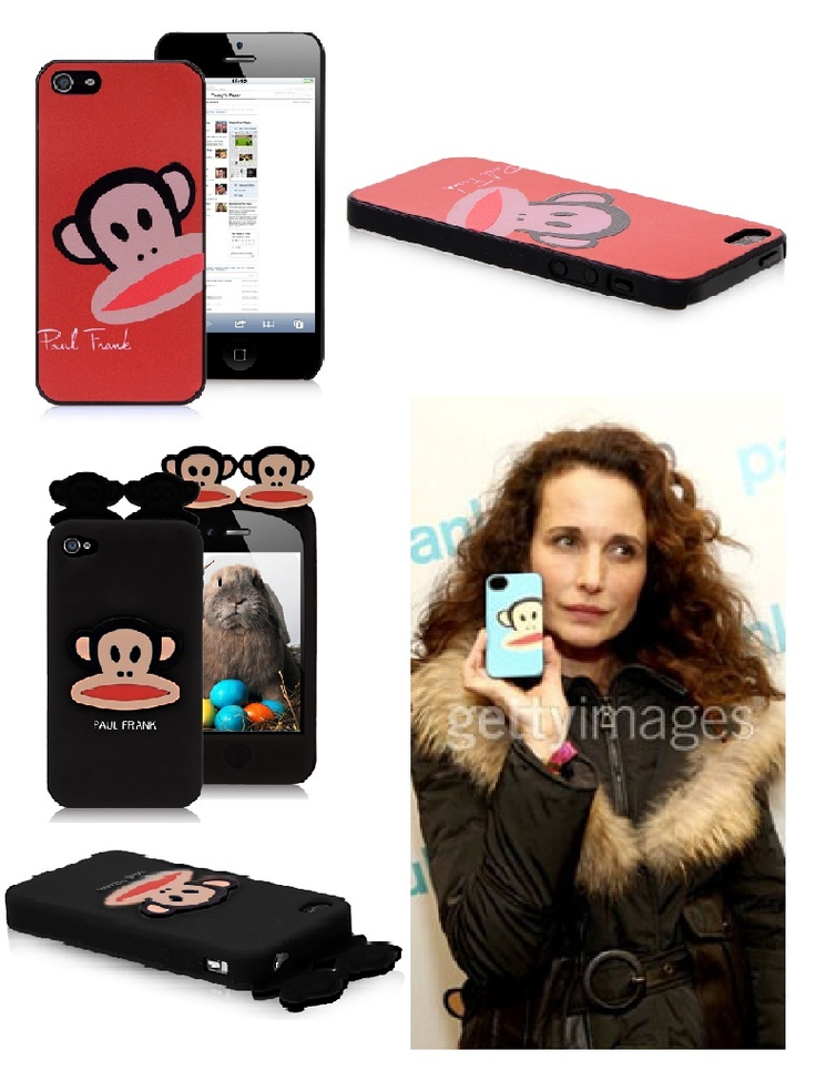 Actress Andie MacDowell poses with her new favorite iPhone case #iphone #case #paul #frank #monkey #cover $3.95