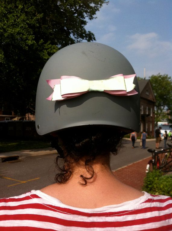 reflective helmet bow