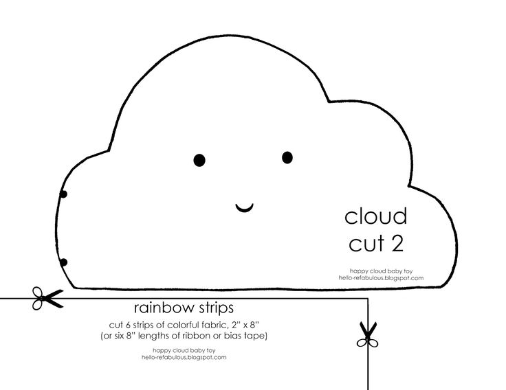 Hello, ReFabulous!: Happy Cloud Baby Toy Tutorial