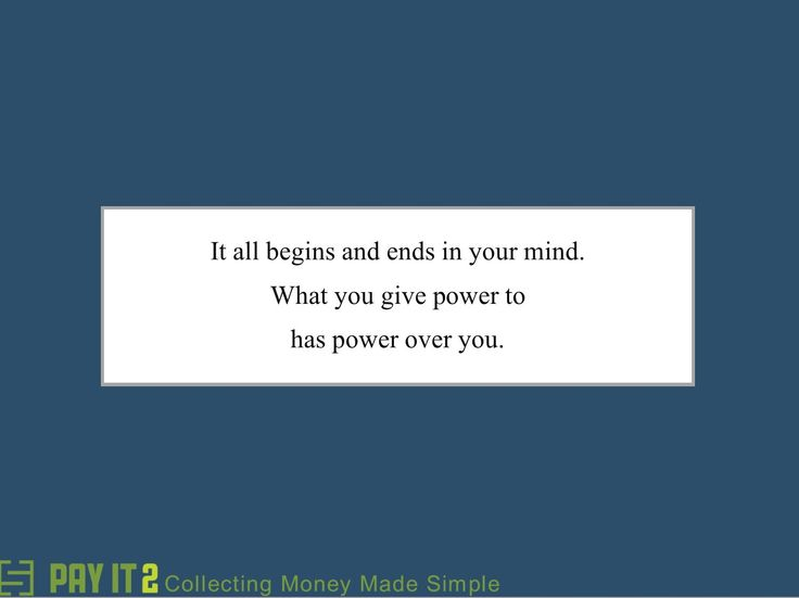 What you give power has power over you. http://www.payit2.com/