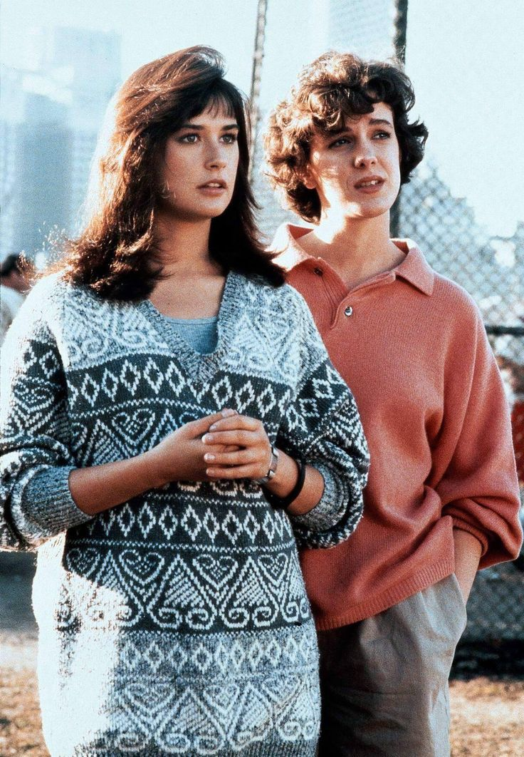 "Elizabeth Perkins and Demi Moore.  ""About Last Night"" (1986)."