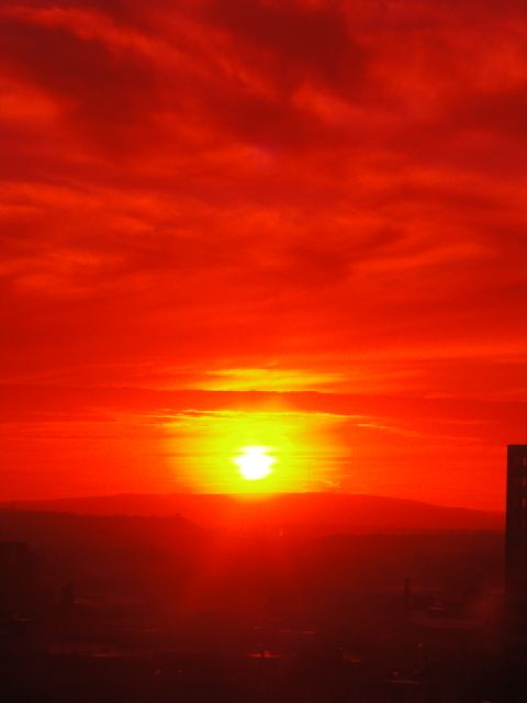 A sunset in Manchester - Yes, Manchester!!