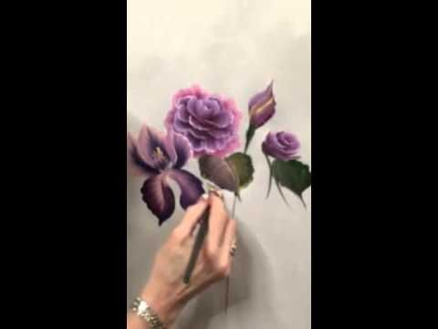 Donna Dewberry at the Creative Painting Convention Prima Flo Roses