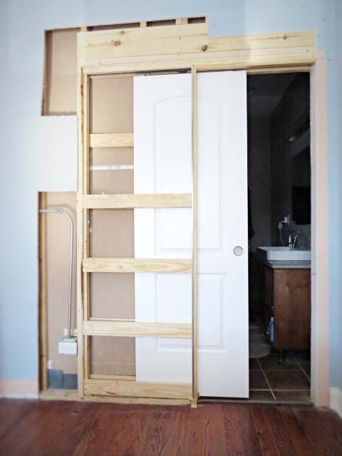 How To Destroy Your Fears Install A Pocket Door For The Home Pinterest Doors And
