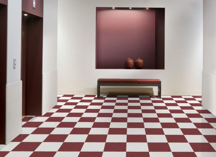 Armstrong 51814 Pomegranate Red And 51929 Sandy Beach In 12 X Inch Vinyl Tiles