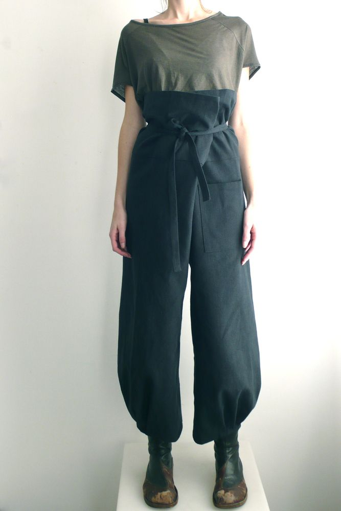 Origami Pants | Black Twill