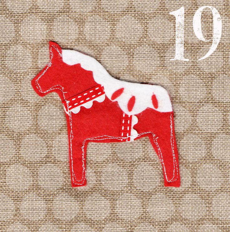 May I Design Day 19 Dala Horse http://may-i-design.blogspot.co.uk/2014/12/advent-challenge-day-nineteen.html