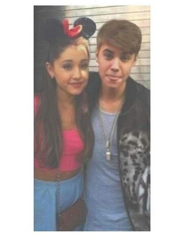 i love this picture of ariana and justin