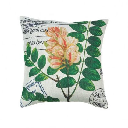 I love how bright this simple, soft-looking pillow looks with it's colorful pink buds and dark green leaves. I've heard that having pillows that have trendy designs on them can really help to spruce up the look of your living room. I'll have to keep an eye out for a pillow like this one so that I can add some flair to our front room.