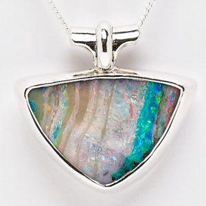 Alan Thomson Design Sterling Silver Queensland Boulder Opal Pendant. #fremantleopals #opal #boulderopal #alanthomsondesign