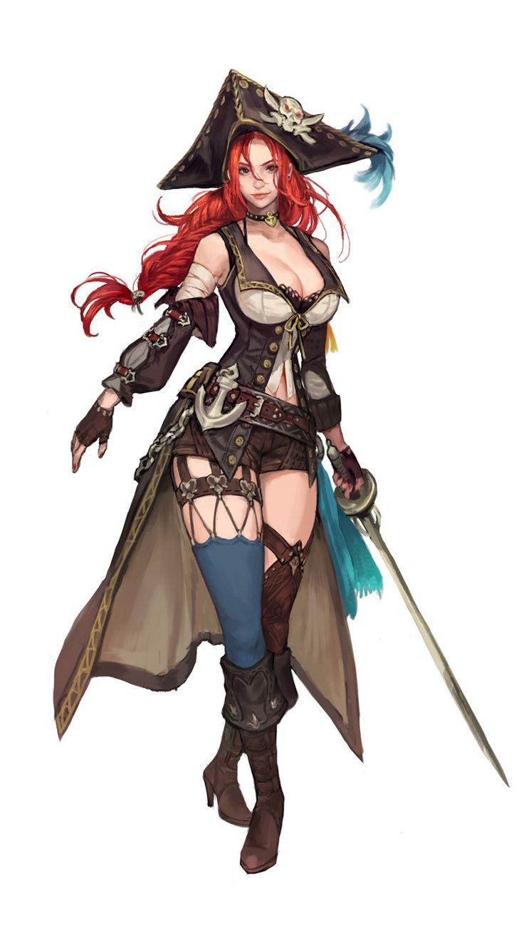 ArtStation - a pirate woman concept., BYUN ARI