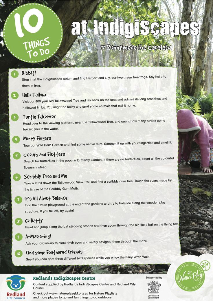 10 Things To Do At Indigiscapes.  Nature Play QLD's Nature Playlist.