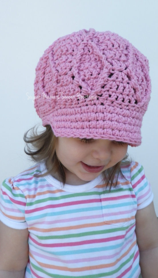 Crochet Baby Hat With Bill Pattern : 1000+ images about Gorras on Pinterest Crochet hats ...