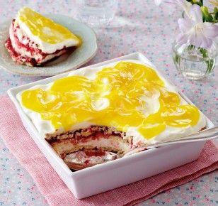 Das Rezept für Himbeer-Schmand-Lasagne mit Lemon Curd und weitere kostenlose Rezepte auf LECKER.de