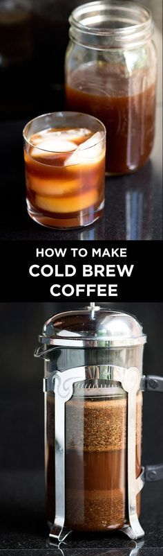 Easy Cold Brew Coffee Concentrate - How to make ultra-smooth cold-brew coffee concentrate at home, just like your favorite coffee shops.