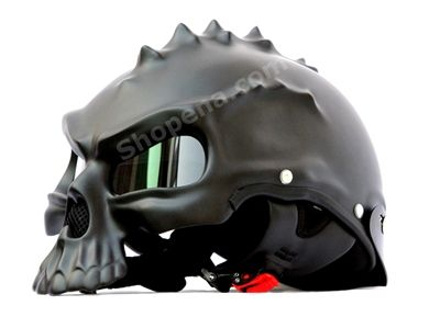 Joining the line up with a mix of fierce and strange is the 3D Spiker Skull Motorcycle helmet! This helmet is one of the very few 3D Skull type helmets that is #DOT approved and is legal to wear. So click here to check it out!