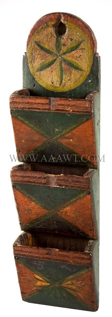 Antique Wall Boxes, Painted Boxes, Storage Boxes, Document Boxes