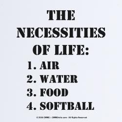 The necessities of life...