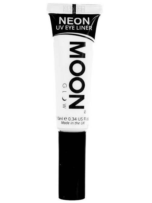 Eyeliner blanco UV 10 ml Moonglow©: Este delineador de ojos de la marca Moonglow© es de colorblanco y brilla con luz ultravioleta.El tubo incluye 10 ml aprox.Con este maquillajecompletarás tus disfraces...