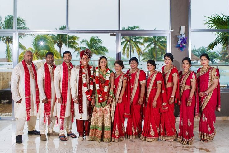groomsmen and bridesmaids | Beach Indian Wedding | Playa Weddings Mexico | the big fat indian wedding inspiration www.thebigfatindianwedding.com