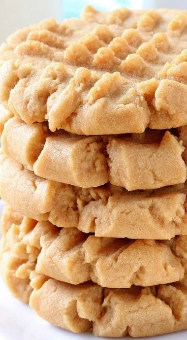 Old Fashioned Peanut Butter Cookies ~ Soft and chewy