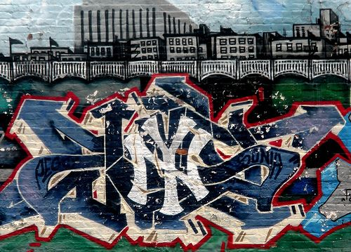 ny yankees wall graffiti