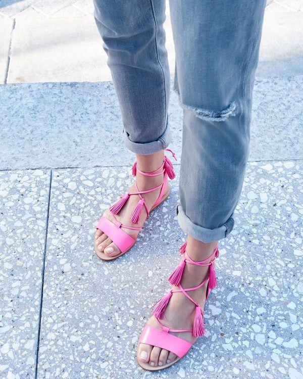 Loeffler Randall Saffron Tassel Sandals shop offer for sale clearance high quality tzC9V0