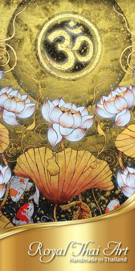 Authentic Hand Painted Lotus Flower Oil Paintings By Famous Royal