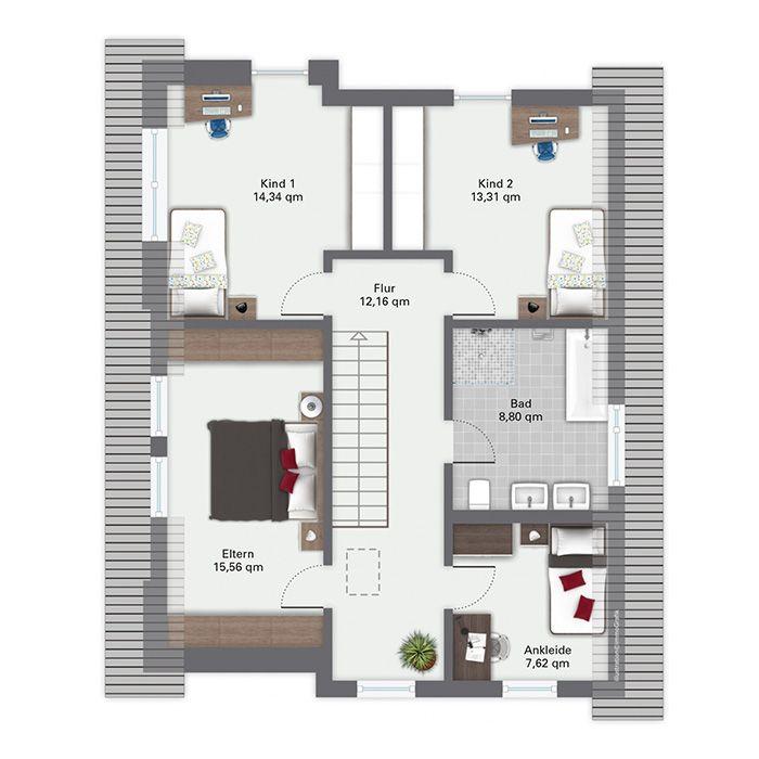 Grundriss einfamilienhaus modern obergeschoss  29 besten Grundriss Bilder auf Pinterest | Haus grundrisse ...