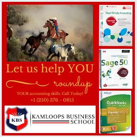 """Let us help YOU """"round up"""" your accounting skills to current software.  Sage Simply Accounting 2013 Level One and Level Two can be completed in only 40 hours at a cost of $560.00 (Includes manual & works out to $280 per level).  Call us today! (250) 376-0815"""