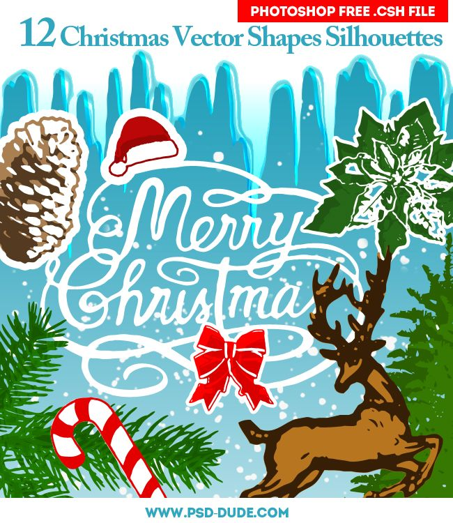 Free Christmas Vector Silhouettes Идеи