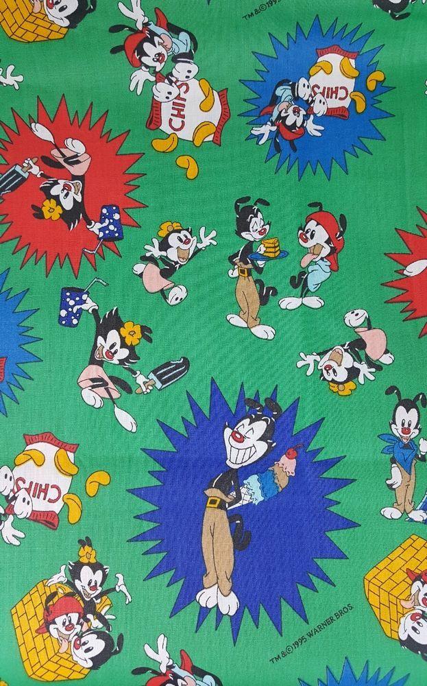 1995 Animaniacs Yakko Wakko Dot Warner Bros. Picnic Food Snacks Sweets Fabric | Collectibles, Animation Art & Characters, Animation Characters | eBay!