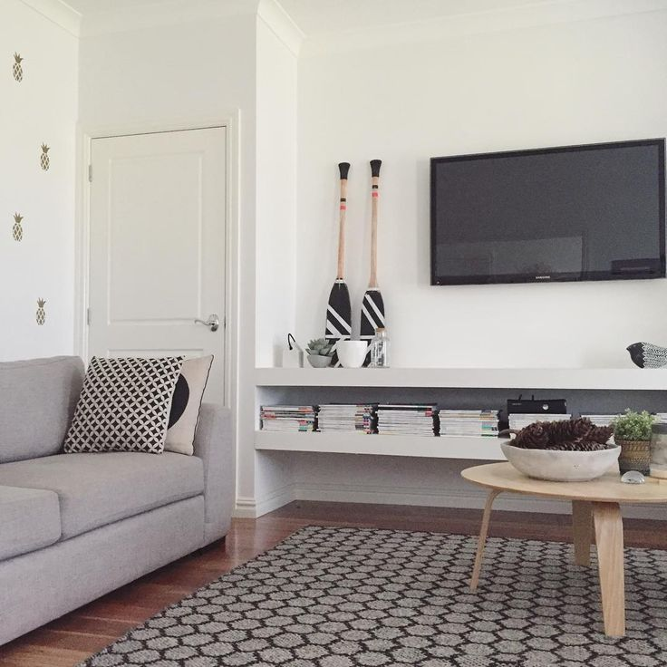 living room open shelves