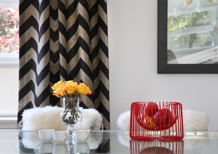 Love These Chevron Curtains CurtainsContemporary Dining RoomsHome