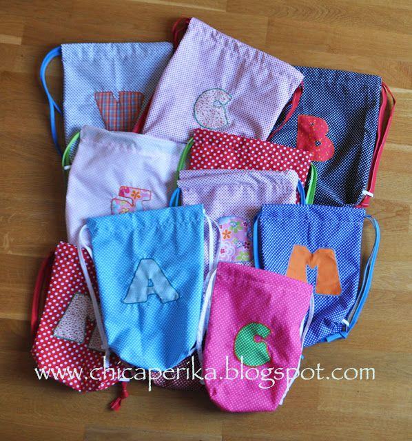 Chica Perika: La bolsa de tela fácil en versión mochila   Recetas   Costura   Manualidades   Tutoriales