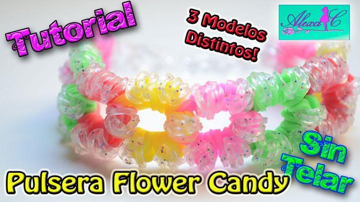 ♥ Tutorial: Pulsera Flower Candy de gomitas (sin telar) ♥