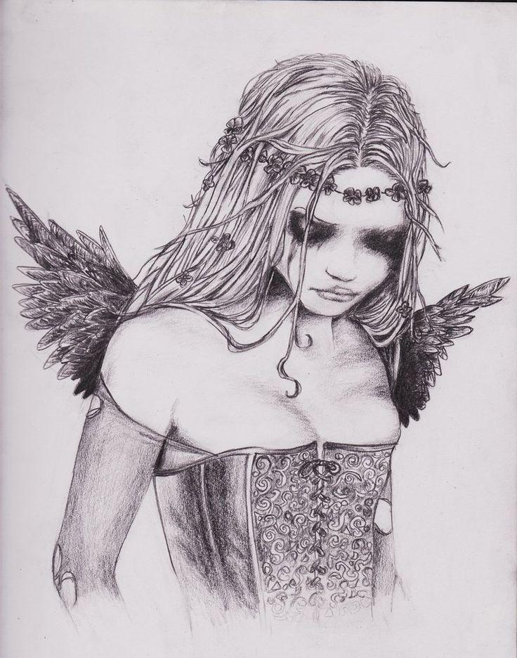 drawing an angel