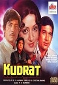 Kudrat is a 1981 Hindi movie written and directed by Chetan Anand. The film stars Rajesh Khanna and Hema Malini in the main lead roles supported by Raaj Kumar, Priya Rajvansh and Vinod Khanna. This is the second movie of Rajesh Khanna-Hema Malini pair with reincarnation theme after Mehbooba