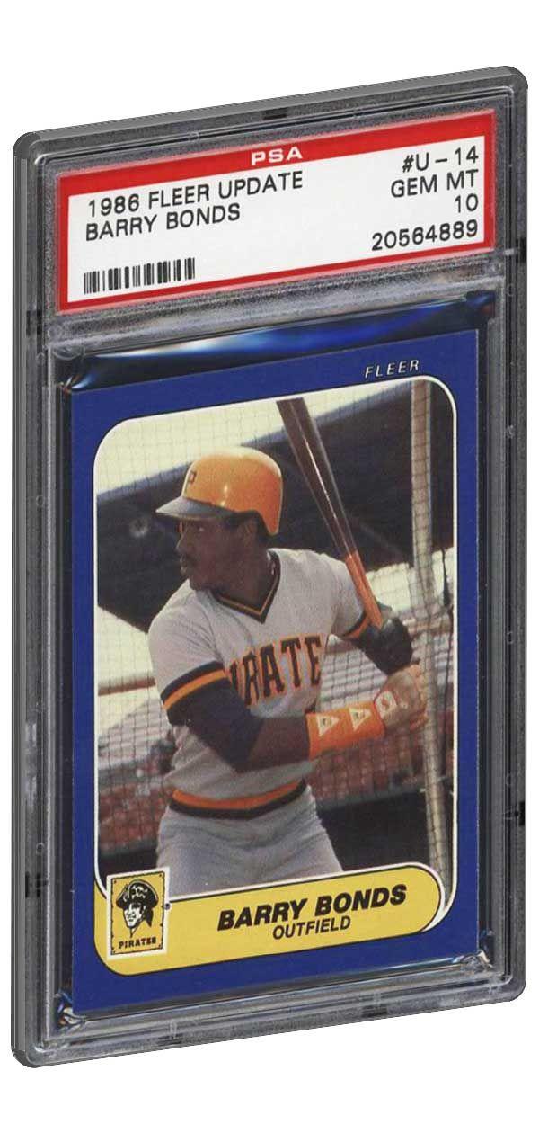 1986 Fleer Update Barry Bonds Rookie Card Graded Psa 10 Gem