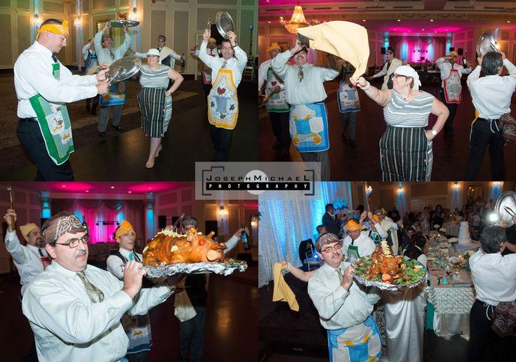 Crystal Fountain Markham Wedding Photography, pig dance at Greek Wedding.