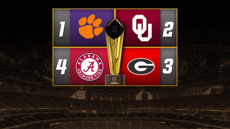 College Football Playoff games, schedule: Alabama snags final spot over Ohio State - CBSSports.com