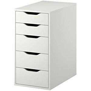 "Ikea ALEX Drawer Unit, White, 14 1/8"" x 27 1/2"""