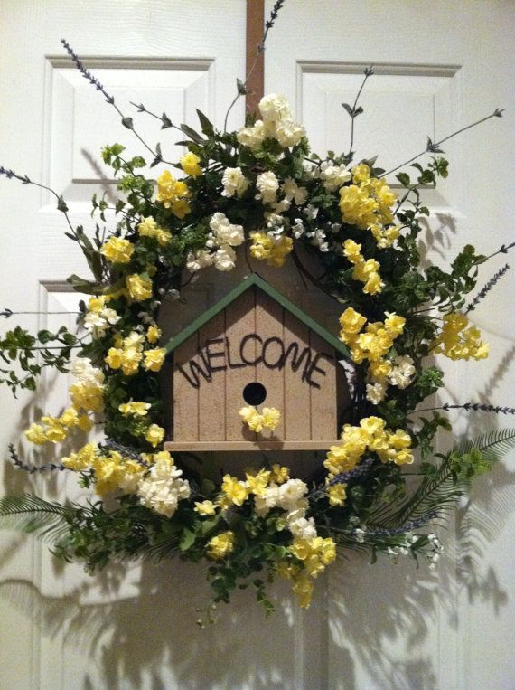 Spring Celebration Wreath Door Wreath Easter by DesignTwentyNineSC