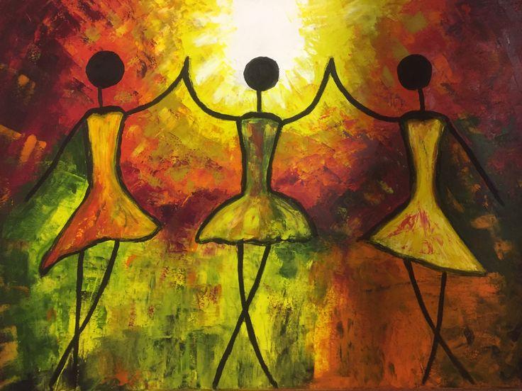 Dance oil 50x70 cm