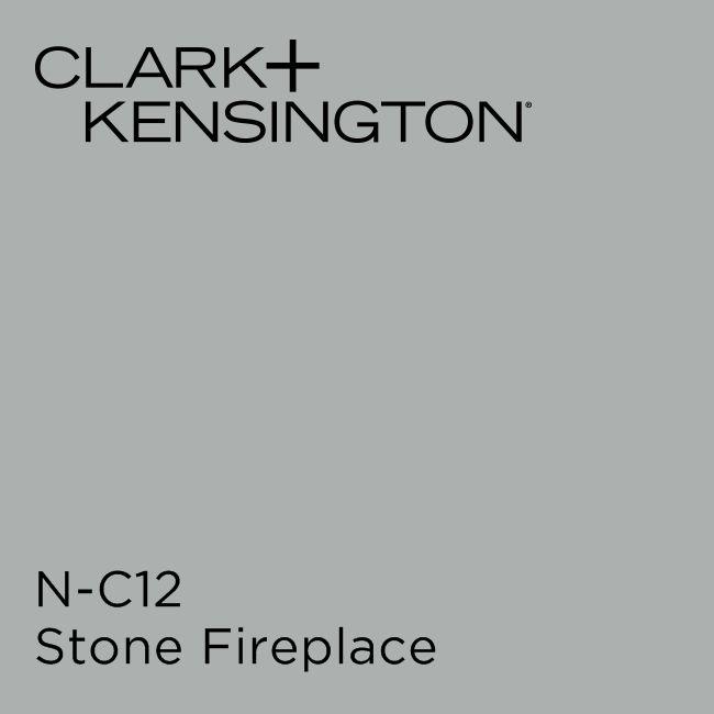 Stone fireplace by clark kensington core neutrals - Clark and kensington exterior paint ...