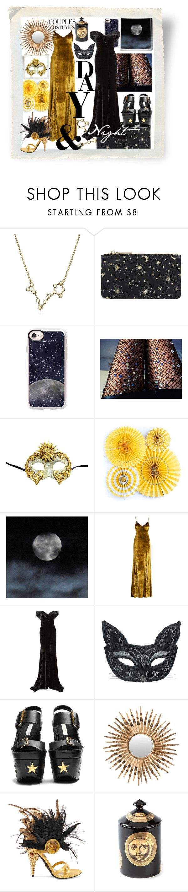 """Day & Night 🌚🌝 #couplescostumes"" by no-face-fashion ❤ liked on Polyvore featuring Bling Jewelry, Accessorize, Casetify, Lirika Matoshi, Galvan, Rachel Gilbert, STELLA McCARTNEY, Safavieh, Prada and Fornasetti"