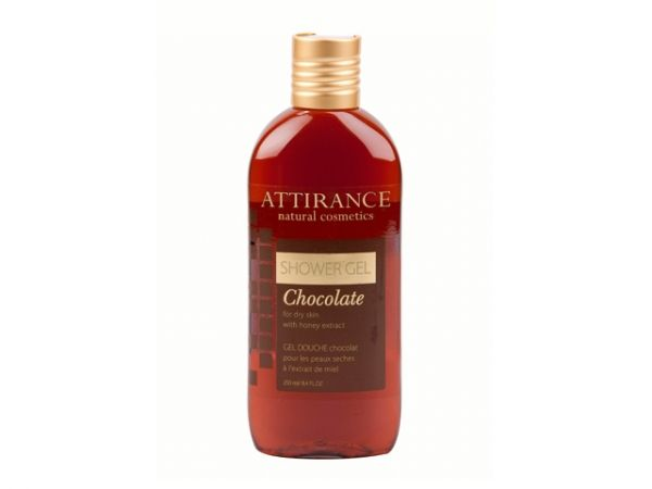 Chocolate Shower Gel for Dry Skin 250 ml. Seducing bitter-sweet chocolate aroma, velvety foam – that is the Chocolate shower gel. This fragrant product does not leave anyone indifferent. The shower gel opens pores, eliminated toxins, deep and intensely moisturising and leaving a sensual sweet fragrance at the same time.