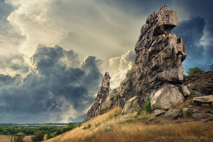 """You see a part of the rock formation """"Devils Wall"""" in the middle of East Germany (Saxony- Anhalt). All parts of it has a length of totally 20km."""