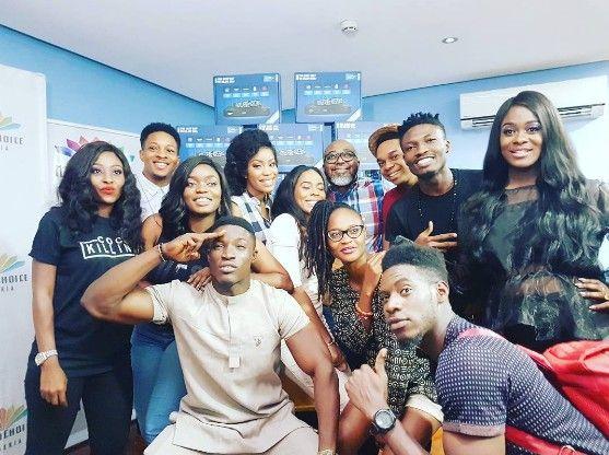 Former Big Brother Naija Housemates Meet Up At DSTV Office See the Xclusive photos below